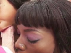 Ebony Deep Throat Sloppy Blowjobs