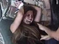 Tickling the shit out of her with hysterical laughter