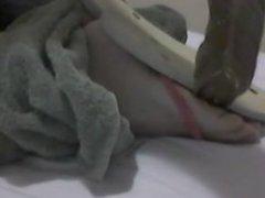 Tickling Feet in Flip Flops