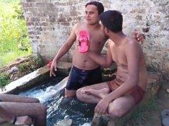 Indian guys in wet underwear!!