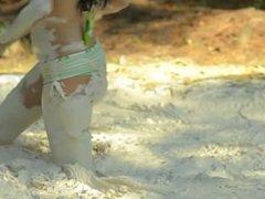 Innocent Girl in Mud