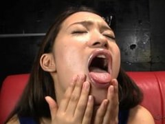 Lesbian Japanese Spit and Kiss