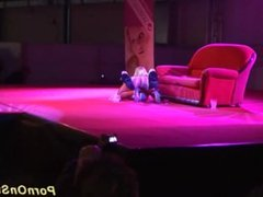 lesbian sex show on public stage