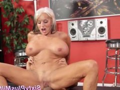 Silver milf secretly loves young cock