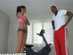 ROME Hotwife Makayla Cox gets a BBC workout from her Trainer