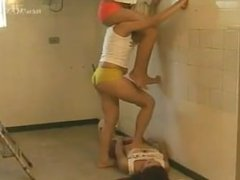 One Lesbian Suffers Trampling While 2 Others Are Painting