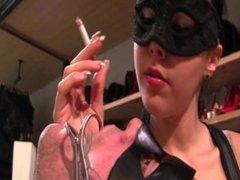 An human ashtray for mistress Gaia