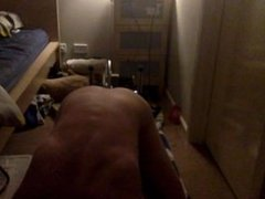 18 year old get fucked by machine doggy style