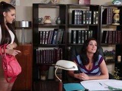 office lesbians asslick