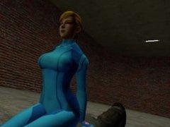 Zero Suit Samus Kills Headscissors POV