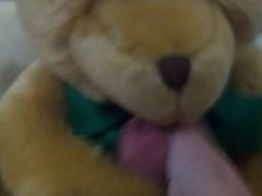 Soft Teddy Bear Handjob & Cumshot