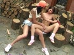 Alex and me lesbian and gwen teen cartoon Cutting wood and tonguing pussy