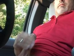 In car handjob