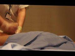 Mature nurse gives a handjob