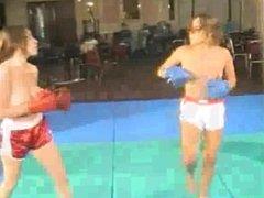 Tina vs Vanessa topless boxing - bt vs st