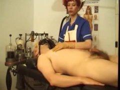 Latex Nurse last Handjob ever