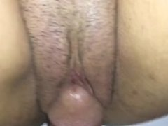 Fat pussy lips swallowing dick