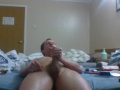 Rubbing my hard cock