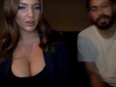 Voluptuous Slut Blows Her Boyfriend On Cam