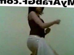 Arab Girl Dancing And Having Fun At Home