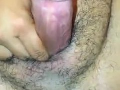 Anal Toying with a Curling Iron till cumshot