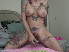 Anna Bell Peaks Shoves Toy In Her Pussy And Squirts Everywhere