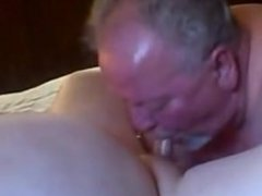 fat Old dad getting sucked and swallowed his load by a fat old bear friend