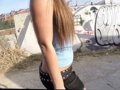 Big ass teen fucked in public