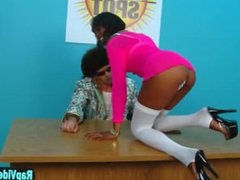 Tall slim black babe audition sex video