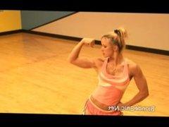 Amy Bates Flexing