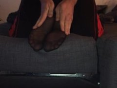 Girlfriend Tickled In Black Nylons