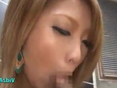 JAPANESE GIRL COCK BLOWJOB & CUM IN MOUTH Cumshot