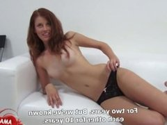 Czech girl casting with facial