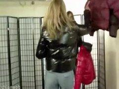 Handcuffed in jacket