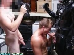 Super huge gay cumshot in mouth Dungeon master with a gimp