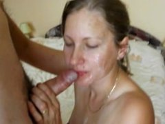 Blonde Wife facial compilation