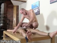 Dudes fucking gay twinks Brit youngster Oli Jay is strapped down to the