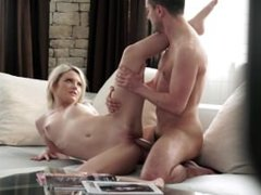 Incredible Blonde Girl Ends Scene With A Perfect Cumshot
