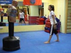 Russian girls powerful and fast tkd kicking BOB