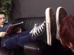 Goddess Bianca's Sneakers, Socks & Sweaty Feet Worshipped
