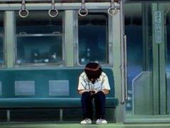 Evangelion episodio 4 - Lluvia despues de la huida y el dilema del erizo