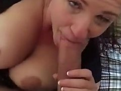 POV stud's cock sucked and fucked