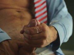 Wife filmed me masturbated to cum solo