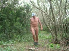 Naked outdoor adventure