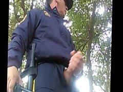 Security Guard's Big Cock