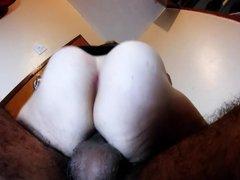 Hairy amateur wife her quickie orgasm peluda