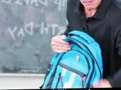 InnocentHigh - Busty MILF Teacher Fucks Student