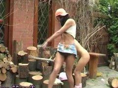 Bbw lesbian scene and sasha knox lesbian slave tumblr Cutting wood and