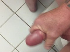 Jerking off my BIG cock slow mo CUM SHOT