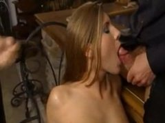 Fur collar fetish gang bang